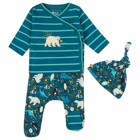 Piccalilly 3 Piece Baby Set - Arctic