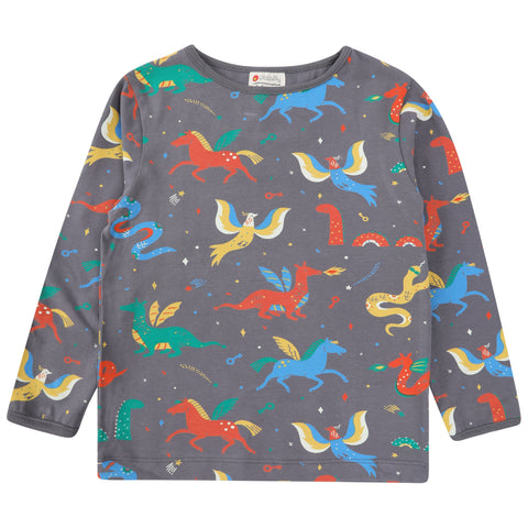 Piccalilly Kids Fitted Top - Mythical Creature
