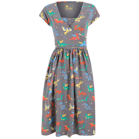 Piccalilly Adult Wrap Dress - Mythical Creatures