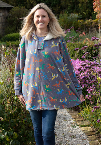 Image of Piccalilly Adult Poncho - Mythical Creatures