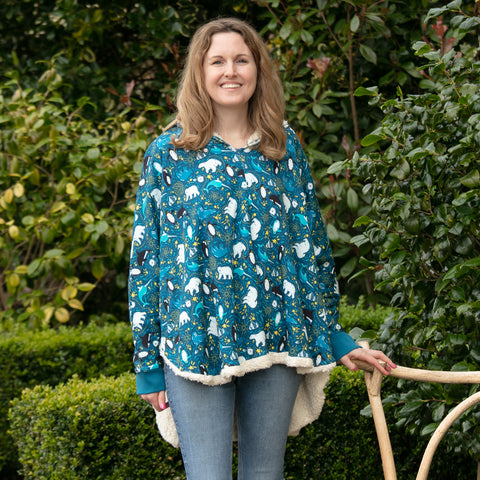 Image of Piccalilly Adult Poncho - Arctic