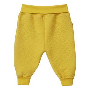 Piccalilly Pull-Up Quilted Trousers - Mustard