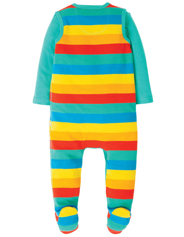 Image of Frugi Little Summer Gift Set - Rainbow Multi Stripe/Sun