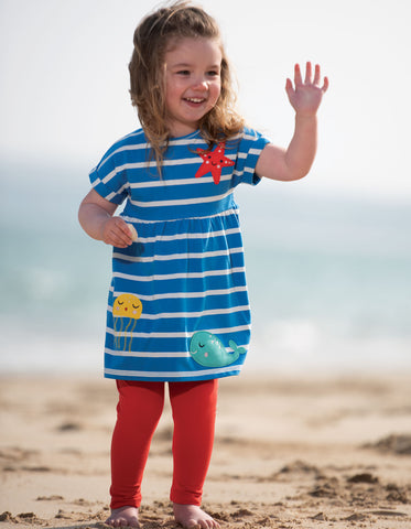 Image of Frugi Olive Outfit - Motuso Blue Stripe/Sealife