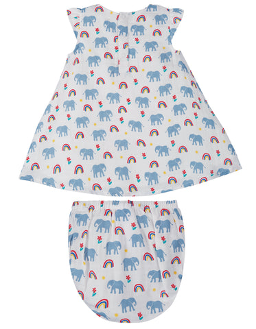 Frugi Dolly Muslin Outfit - Elephants