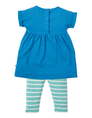 Frugi Olive Outfit - Sail Blue/Clouds - Tilly & Jasper