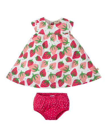 Frugi Pretty Polly Dress Set - Scilly Strawberries - Tilly & Jasper
