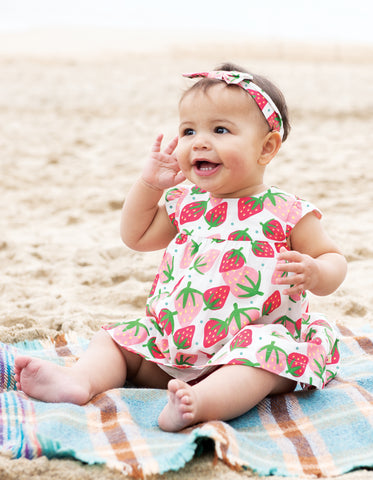 Image of Frugi Pretty Polly Dress Set - Scilly Strawberries - Tilly & Jasper
