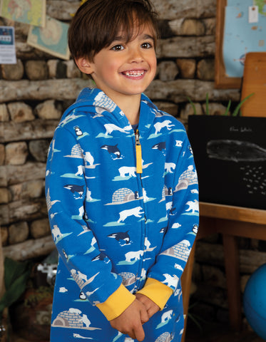 Frugi Big Snuggle Suit - Polar Play