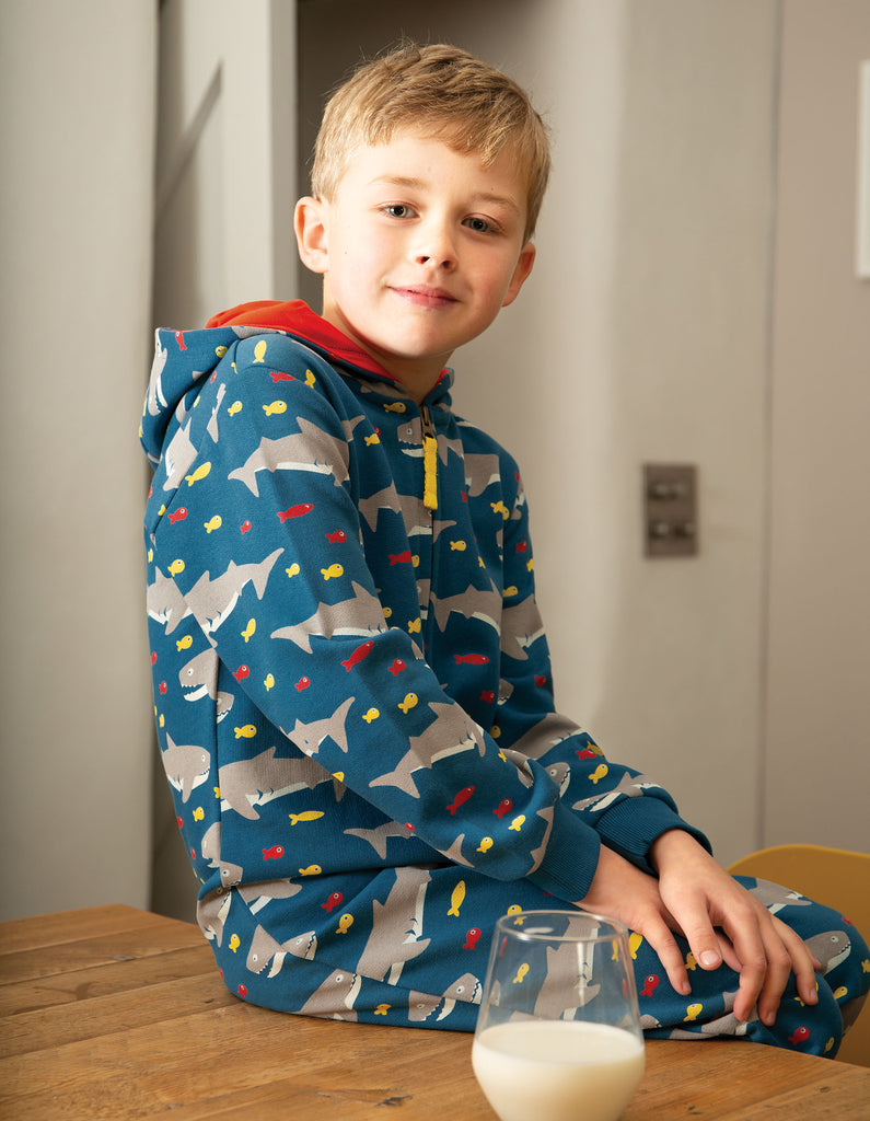 Frugi Big Snuggle Suit - Sharking Around