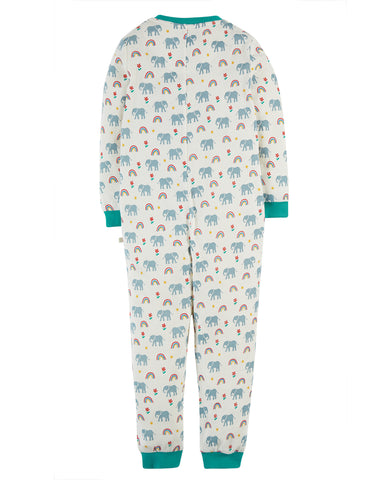 Image of Frugi Zennor Zip Up All In One - Elephants
