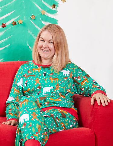 Toby Tiger Adult Christmas Print Pyjamas