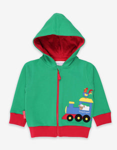 Toby Tiger Animal Train Applique Hoodie