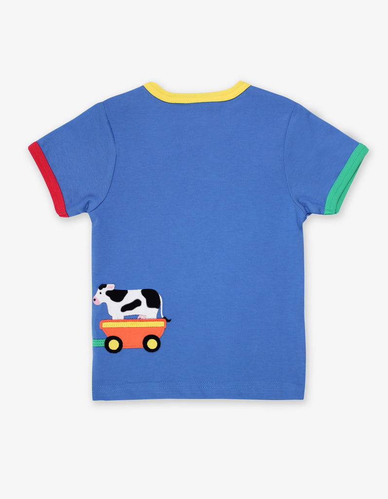 Toby Tiger Animal Train Applique T-Shirt