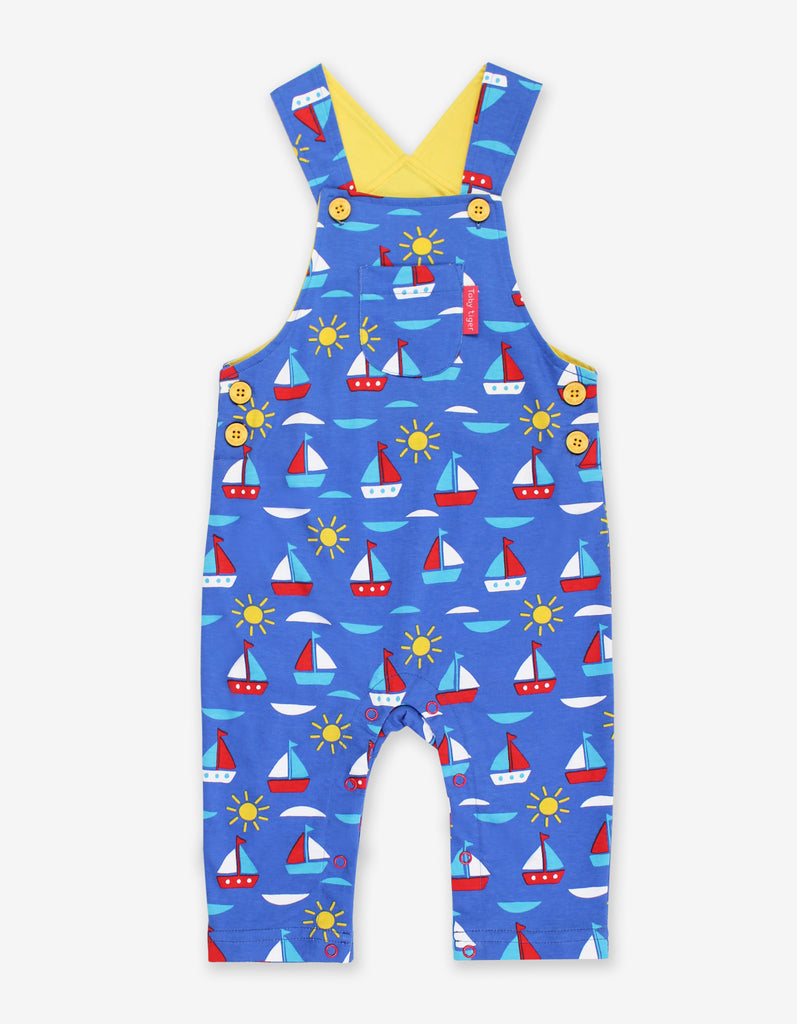 Toby Tiger Boat Print Dungarees