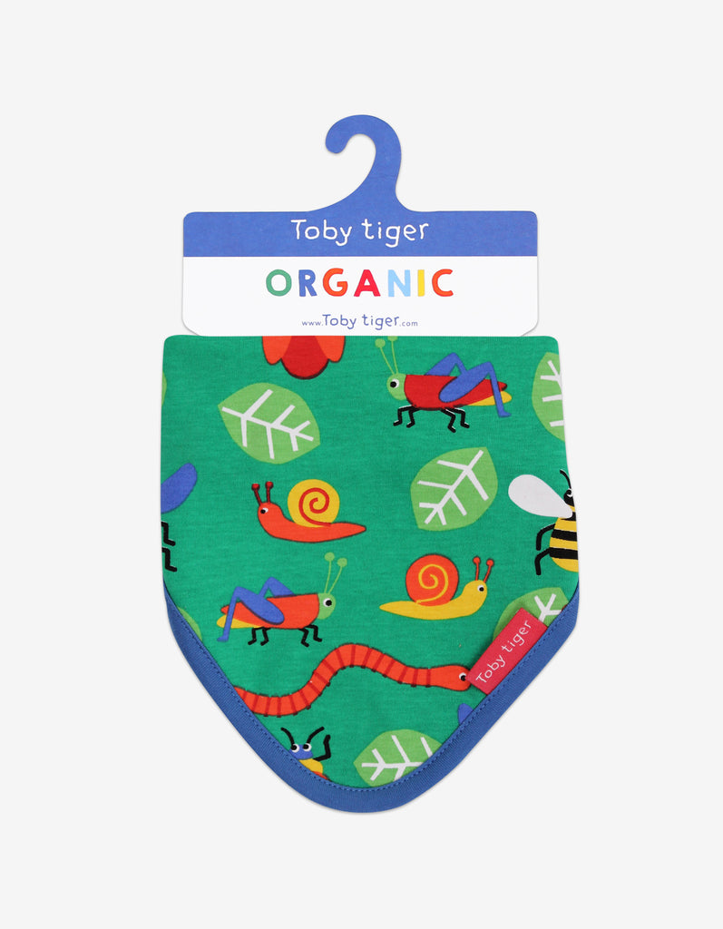 Toby Tiger Bug Print Dribble Bib