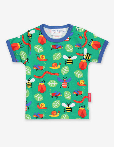Image of Toby Tiger Bug Print T-Shirt
