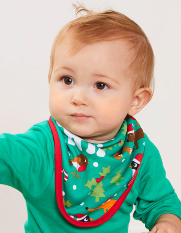 Toby Tiger Christmas Print Dribble Bib