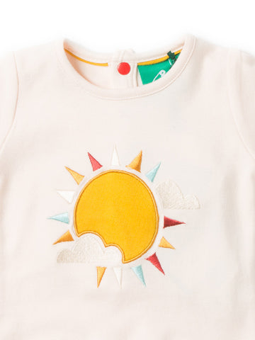 LGR Follow The Sun Applique Top - Organic Cotton