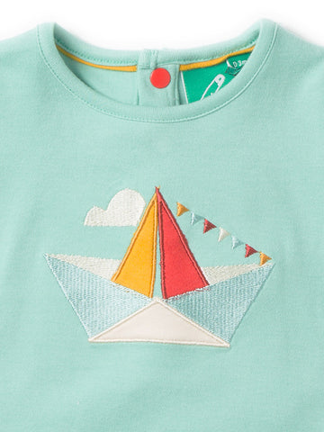 Image of LGR Origami Boat Applique Top - Organic Cotton
