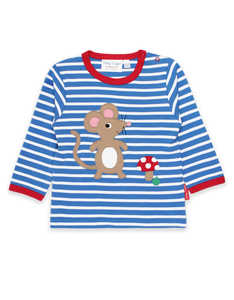 Toby Tiger Mouse and Mushroom Applique T-Shirt