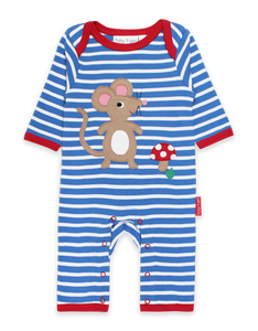 Toby Tiger Mouse and Mushroom Applique Sleepsuit