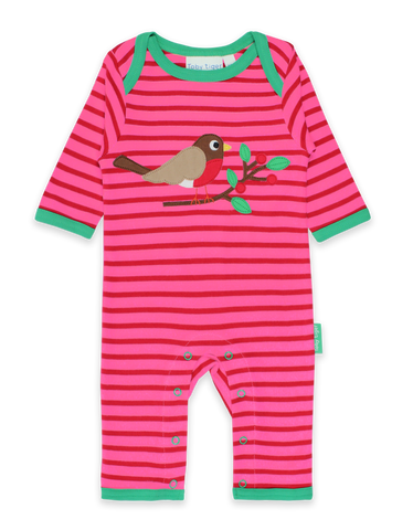 Toby Tiger Robin Applique Sleepsuit