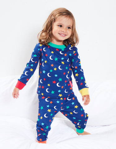 Image of Toby Tiger Star Print Pyjamas (Glow in the dark)