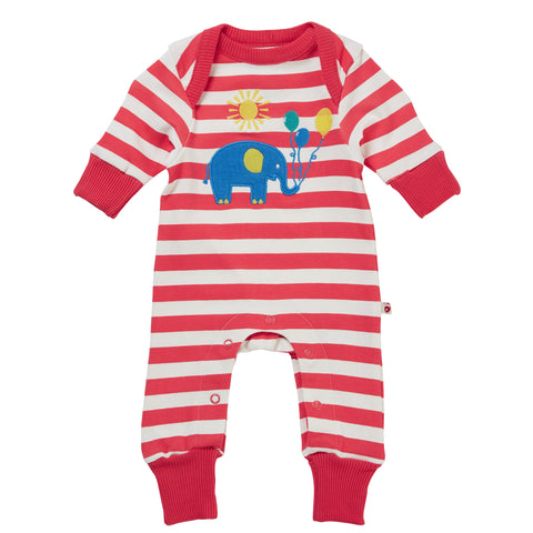Piccalilly Applique Playsuit - Party Elephant