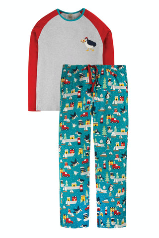 Frugi Eve PJs - Grey Marl/Puffin