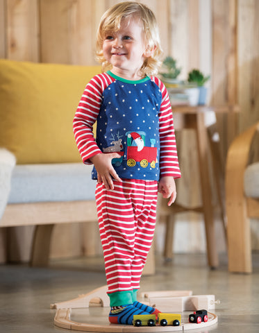 Frugi Stargaze PJs - Twilight Sky/Train