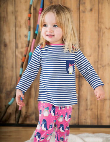 Frugi Penny PJs - Flamingo Penguin Huddle