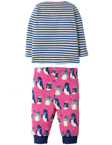 Image of Frugi Penny PJs - Flamingo Penguin Huddle - Tilly & Jasper