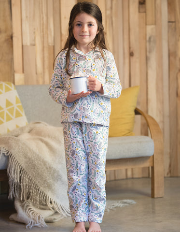 Frugi Clementine Cotton PJs - Cosy Cats