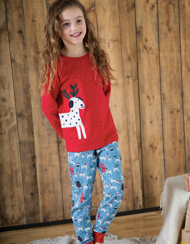 Image of Frugi Jamie Jim Jams - Dotty Dalmatians/Dog - Tilly & Jasper