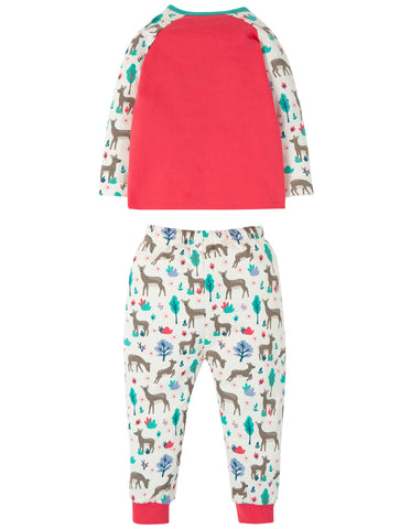Image of Frugi Stargaze PJs - Watermelon/Deer