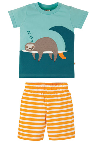 Image of Frugi Praa PJs - Bright Sky/Sloth