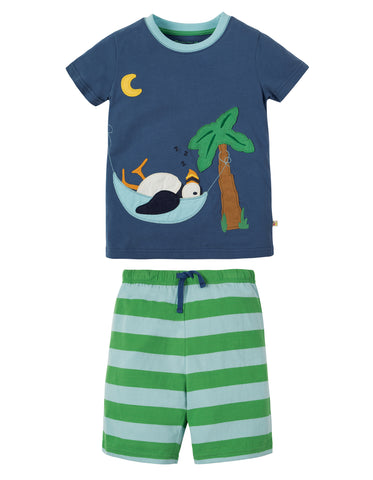 Image of Frugi Praa PJs - Marine Blue/Puffin - Tilly & Jasper