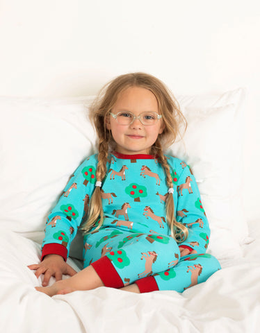 Image of Toby Tiger Horse Print Pyjamas