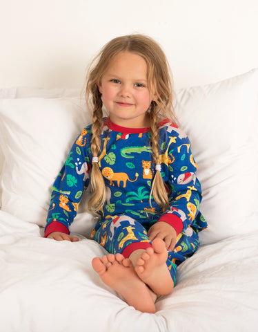 Image of Toby Tiger Jungle Print Pyjamas