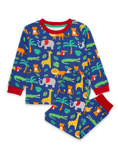 Toby Tiger Jungle Print Pyjamas