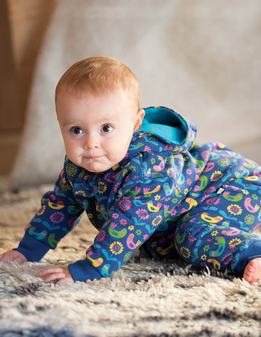 Frugi Snuggle Suit -  Scandi Birds
