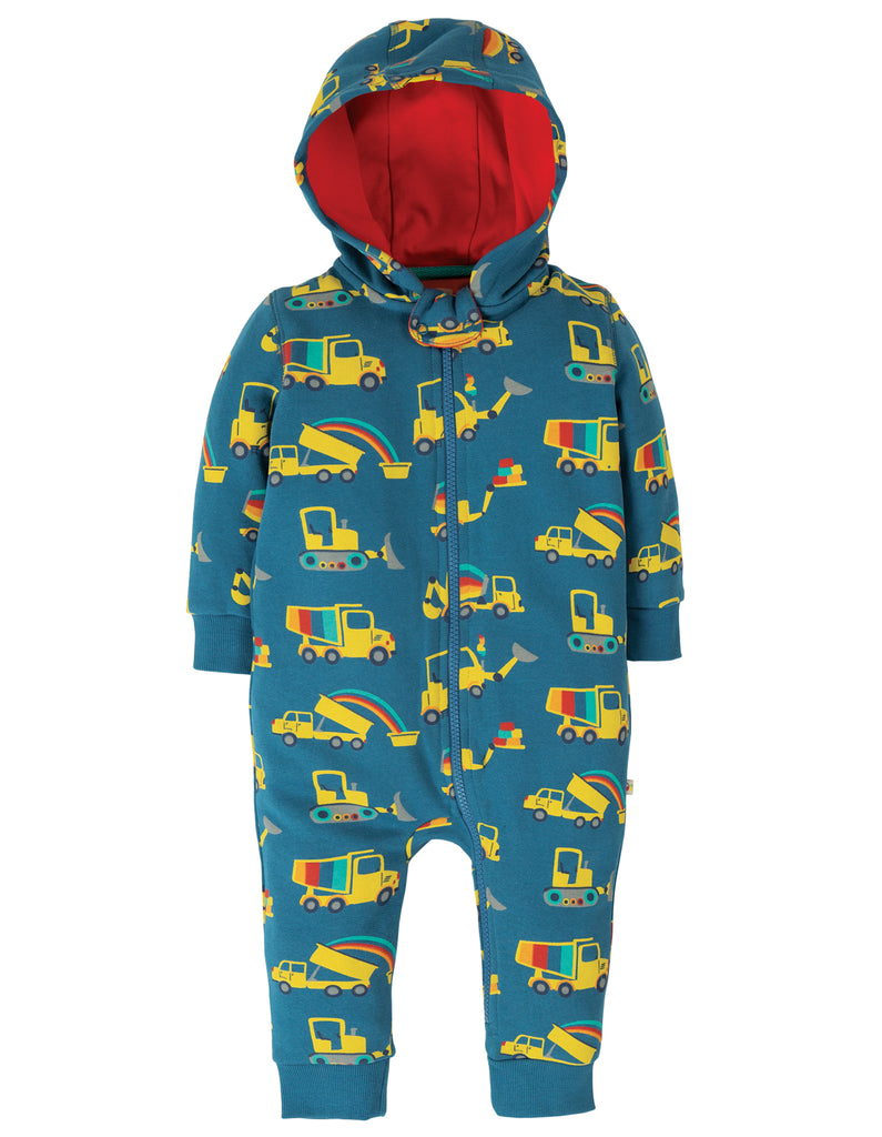 Frugi Snuggle Suit - Dig A Rainbow