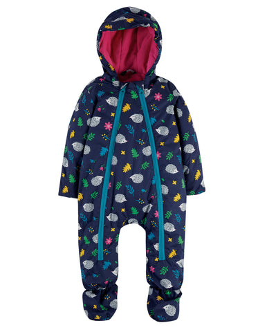 Image of Frugi Explorer Waterproof All In One Suit - Hedgehogs
