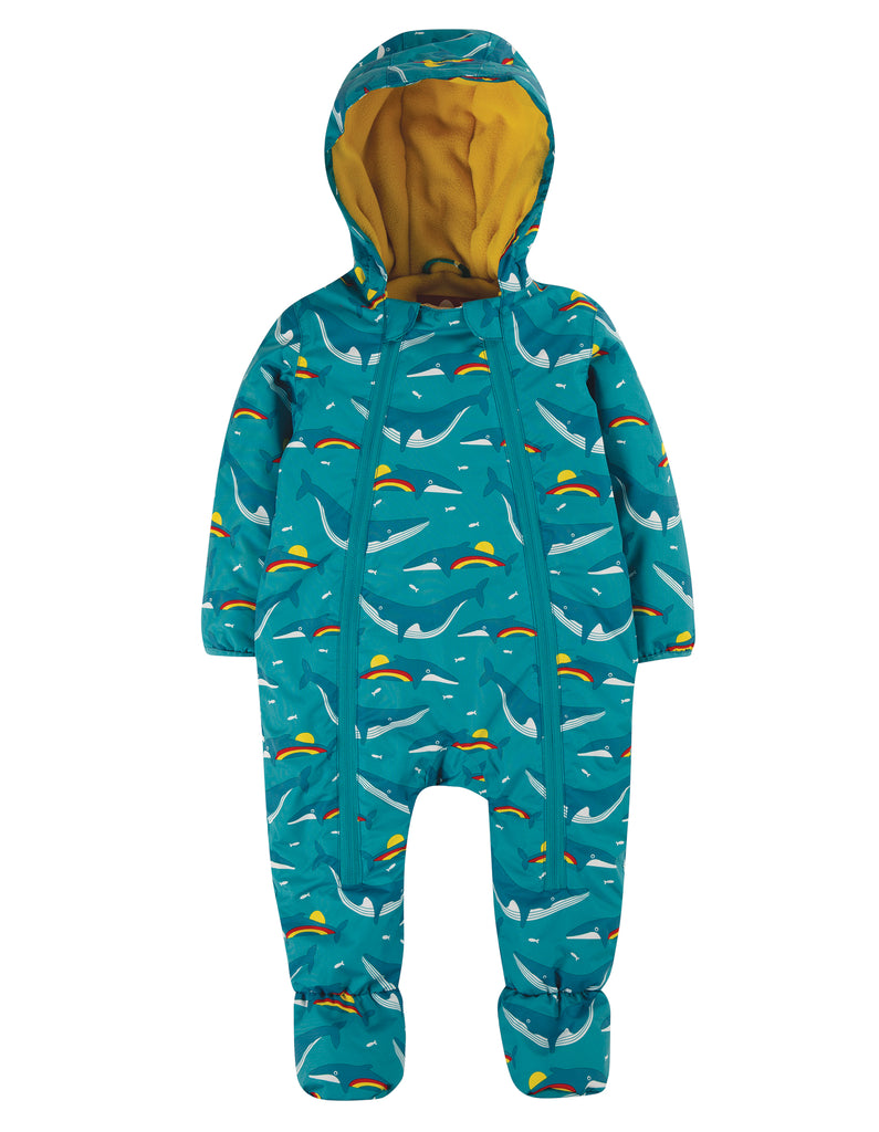 Frugi Explorer Waterproof All In One Suit - Rainbow Whales