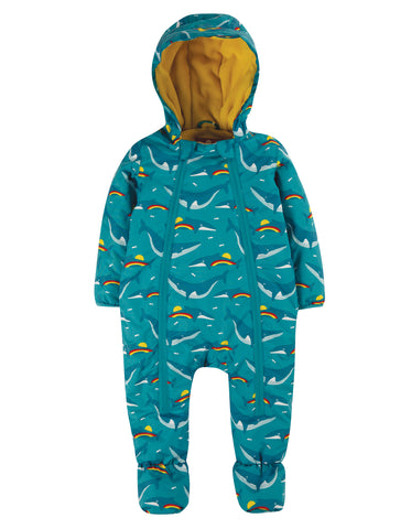 Image of Frugi Explorer Waterproof All In One Suit - Rainbow Whales