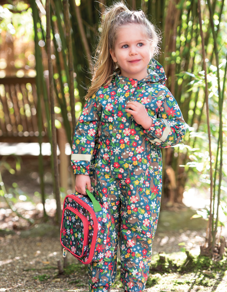 Frugi Rain Or Shine Suit - Rabbit Fields