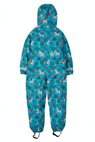 Image of Frugi Rain Or Shine Suit - Teal Indian Horse