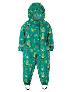 Frugi Puddle Buster Suit - Samson Green Frog Pond