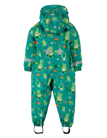 Image of Frugi Puddle Buster Suit - Samson Green Frog Pond